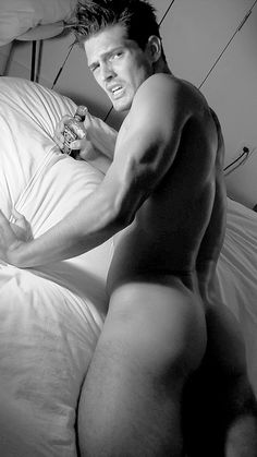 Diego Miguel Showing Off Rear On Bed
