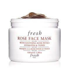 3. Fresh Rose Face Mask ($58): Real rose petals that literally melt into your skin? It's true. It's also packed with cucumber and aloe, which help soothe and calm any redness. You're going to seriously smell like roses afterward.