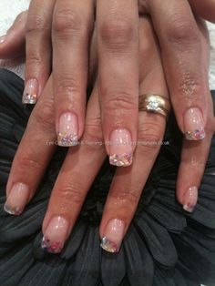 Acrylic overlays with crushed shell inlay... Am I bold enough to do this? I like to keep my nails classy & sophisticated.