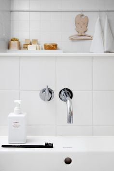 Crisp White Tile, simple is sometimes better, maybe your next #renovation?