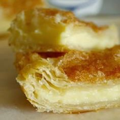 Cream Cheese Squares - simple and tasty! just found the quickest and easiest crowd pleasing dessert around! I have made these with so many different toppings!! They are great with pretty much anything. I have used lemon zest, blueberry topping, fresh strawberries, apples and cinnamon and i'm thinking maybe brown sugar and cinnamon next time,,
