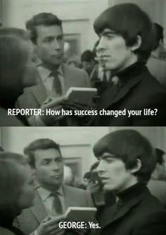 When George was asked about fortune and fame: | 9 Times The Beatles Proved They Were Cheeky