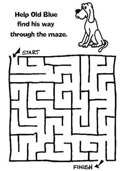 Easy Lost Puppy Maze Activity Page Plus More Than 15 Free Online Kids Games Suitable For Aged