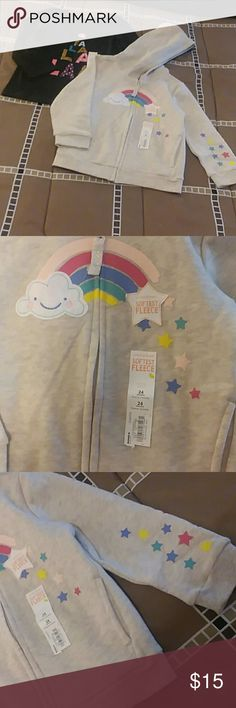 🌼NWT 24 months long sleeve Tee and hooded jacket Both NWT. Jumping Bean from Kohls. Matching Sets