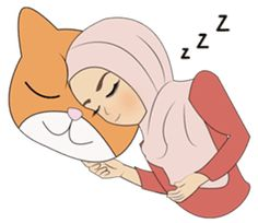 Miss Dua Hijabi cutie girl Eng.Version by Patcharin Mangsuree Love Is Cartoon, Cartoon Pics, Good Night Cat, Wallpaper Wa, Islamic Cartoon, Emoji Images, Hijab Cartoon, Line Sticker, Arabic Words