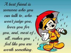 """Mickey Mouse....they should change this to aunt instead of """"best friend"""""""