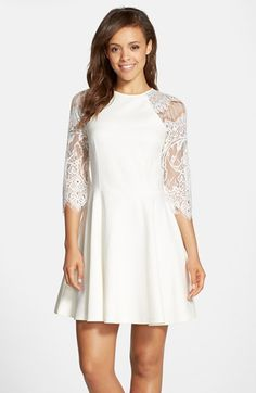 V cut lace dress nordstrom