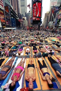 Why not do yoga on Times Square?
