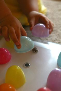 Easter Game for Kids.  Finding the matches under the egg.