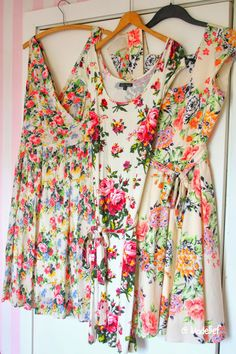 spring floral dresses with cowgirl boots and lots of bracelets.