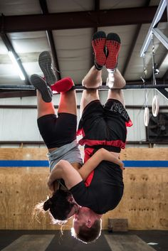 Right, yes, of course, not showing off. | These CrossFit Engagement Photos Are Both Terrifying And Adorable