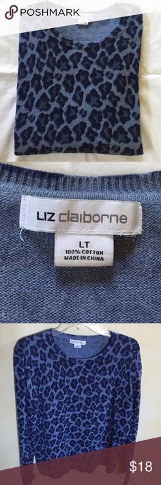 "Liz Claiborne woman's size large(tall) sweater Liz Claiborne size large tall sweater. Good used condition only wore a few times. Length is apprx 21"". 100% cotton. Liz Claiborne Sweaters Crew & Scoop Necks"