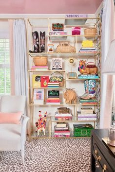 One Room Challenge Reveal: My Fave Five — Veronica Bradley Interiors Small Living, Living Spaces, Estilo Kitsch, Elegant Living Room, My New Room, Home Decor Inspiration, Bookshelves, Bookshelf Ideas, Veronica