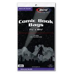 BCW Regular Silver Comic Bags