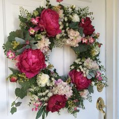 Spring Wreaths-Hydrangea Wreath-Valentine's by ReginasGarden
