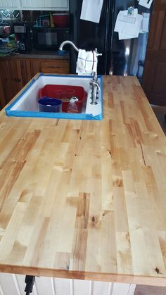Birch countertop