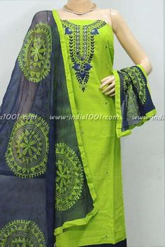 Beautiful Cotton Embroidered Unstitched Suit fabric