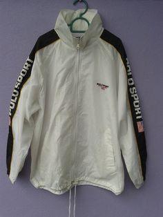 Vintage Polo Sport Ralph Lauren Windbreaker L/XL lQp4t5Rj