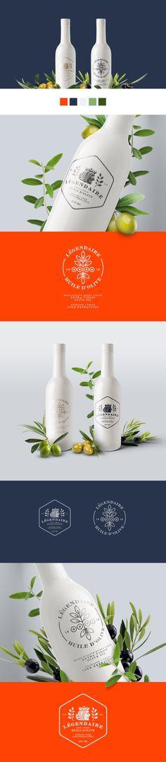 Légendaire huile d'olive, ceramic bottle packaging design, 2015.