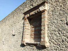 Pompeii Ruins, Western Wall, Acanthus, Ancient Rome, Roman Empire, Fresco, Statue, Landscape, Architecture