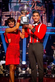 Last years winners- Louis Smith and Flavia Cacace - Strictly Come Dancing Champions 2012. Who will lift the trophy this year??