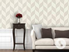 Sherwin Williams removable wallpaper Classic Chevron Large Print