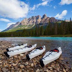 The Bow River, Banff, Canada via @calsnape