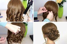 Картинки по запросу прически пошагово на средние волосы