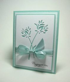 5/31/2012; CherylQuilts at Splitcoaststampers; Memory Box 'Wild Blooms' die; another great CAS card!