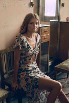 Magdalena Frackowiak stars in For Love & Lemons' spring 2017 lookbook