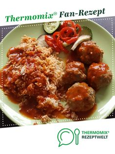 Mediterrane Hackbällchen mit Reis all in Mediterranean meatballs with rice all in by Vickysthermomix. A Thermomix ® recipe from the main meat with meat category www.de, the Thermomix® Community. Meatballs And Rice, Italian Meatballs, Cooking Meatballs, Carbonated Soft Drinks, Cheesecake, Albondigas, Food Science, Food Industry, Meatball Recipes