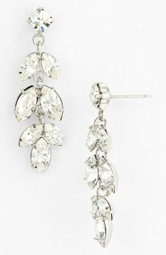 Nina 'Brylee' Crystal Drop Earrings available at #Nordstrom