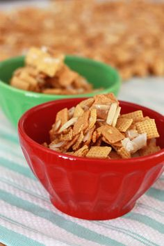 Christmas Chex and Coconut Crack, good to have the recipe where I can find it