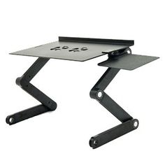 For Computer Work: iCraze Adjustable Vented Laptop Table Laptop Computer Desk Portable Bed Tray Book Stand Multifuctional & Ergonomics Design Dual Layer Tabletop (Black) iCraze,http://www.amazon.com/dp/B00466887G/ref=cm_sw_r_pi_dp_vhtGtb1QDM1DF3XC