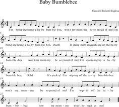 Baby Bumblebee. Canción Infantil Inglesa