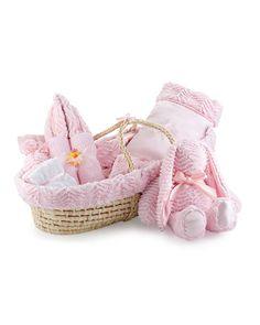 Ziggy Plush Gift Basket, Pink - Swankie Blankie