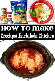 Crockpot Chicken Recipes - Easy Enchilada Chicken! Go ahead and give Taco Tuesday a rest this week… and make this crazy EASY 5 ingredient Crockpot Enchilada Chicken Recipe instead! Trust me, your whole family will love the cheesy goodness this yummy slow cooked Enchilada Style chicken dinner delivers. Go grab the recipe and give it a try this week!
