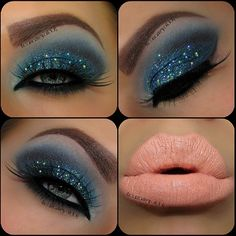 Happy Tuesday Beauties♥    BLUE! I am always afraid of blue (blue shadow