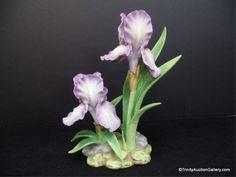 Andrea Purple Mere Iris #9742 Porcelain