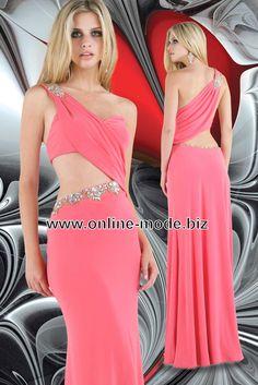 Sexy Abendkleid in Lachs von www.online-mode.biz
