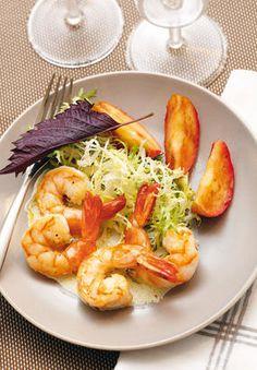 Shrimp and apple salad, creamy vinaigrette - Healthy Food Mom Healthy Cooking, Healthy Snacks, Healthy Eating, Healthy Recipes, Vinaigrette, Shrimp Recipes, Salad Recipes, Apple Salad, Summer Dishes