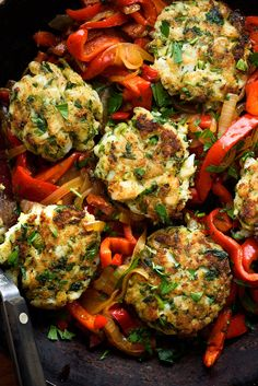 Codfish Cakes With Sweet Peppers and Onions Recipe - NYT Cooking