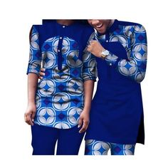Dashiki African Clothing Matching Style For Couple Men and Women 2Pc Top-Pants
