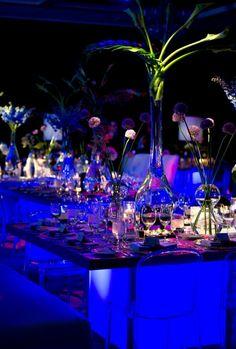 Blue event lighting. #lightinginspiration