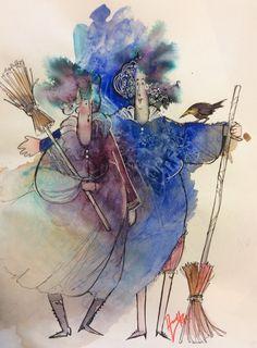 Akvarell & ink Abstract Watercolor, Watercolor Tattoo, Watercolor Paintings, Watercolors, Painting People, Love Painting, Drawing Sketches, Drawings, Urban Sketching