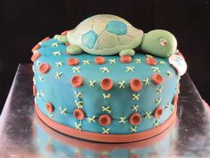 sports baby boy shower cakes | TJ's Happy Cakes: Turtle baby shower cake