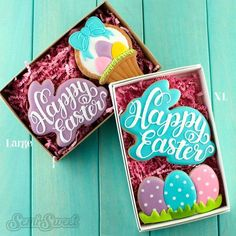 Decorated Easter Cookies and Cutters - Semi Sweet Designs