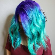 20 Gorgeous Mermaid Hair Ideas from Vibrant to Pastel                                                                                                                                                     More