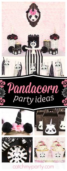 Don't miss this beautiful Pandacorn birthday party! The birthday cake is fantastic!! See more party ideas and share yours at CatchMyParty.com