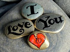 I Love You / Stone Magnets / Sandi Pike Foundas by LoveFromCapeCod, $34.00